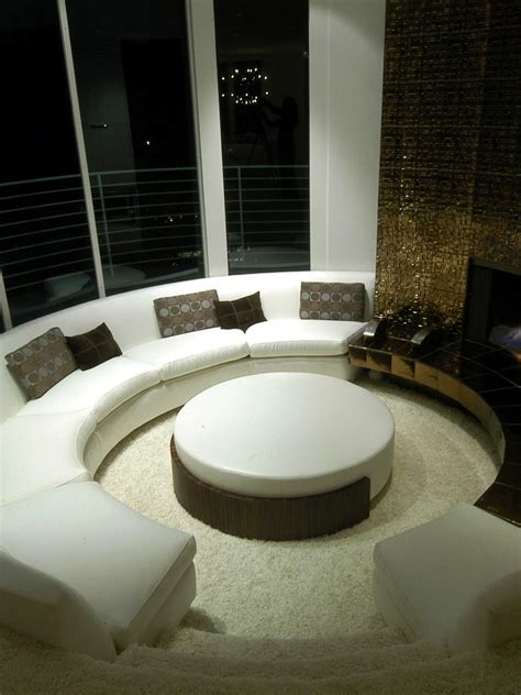 circular living room design photo page hgtv