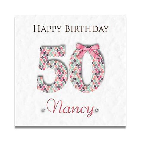 Best Friend 50th Birthday Card Handmade Personalised Ladies Special Friend 30th 40th 50th