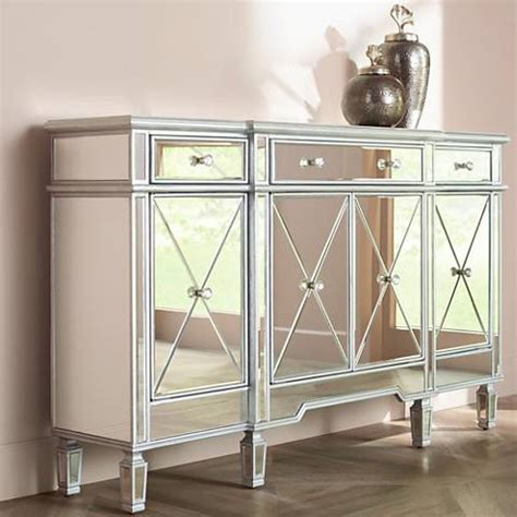 mirrored accent cabinet antique silver entrance cablanca 4 door 3 drawer silver accent cabinet 13y06