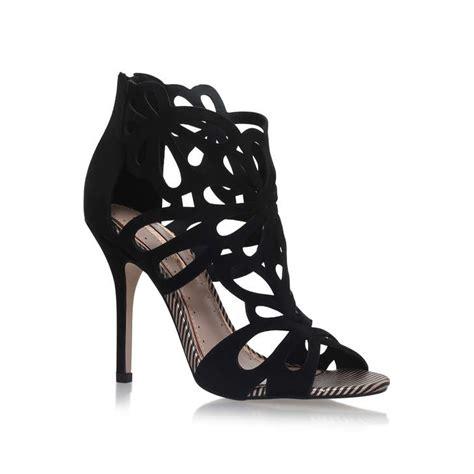 black sandals heels flutter black high heel sandals by miss kg kurt geiger