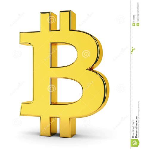 bitcoin symbol bitcoin golden symbol stock illustration image of bit