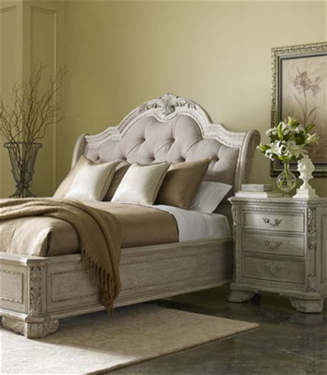 renaissance upholstered sleigh bedroom set by a r t