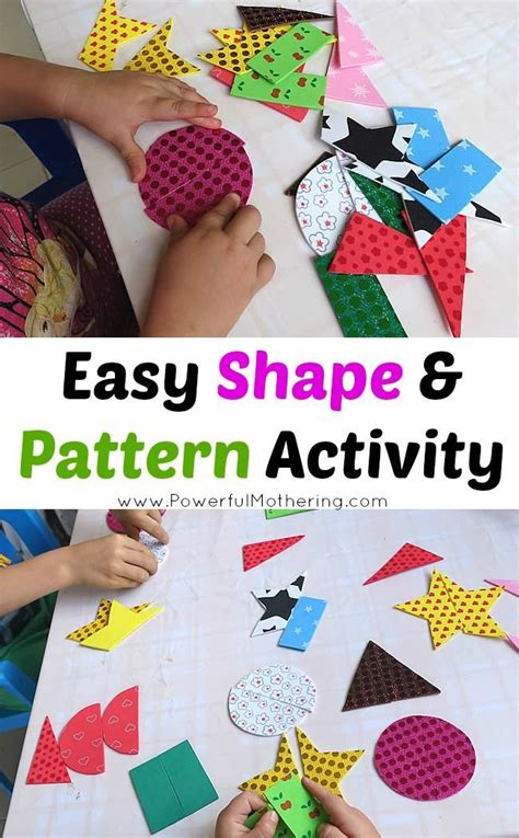 shape pattern activities early years 279 best shapes images on pinterest preschool colors