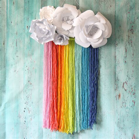 Paper Macrame - the craft patch rainbow macrame wall hanging