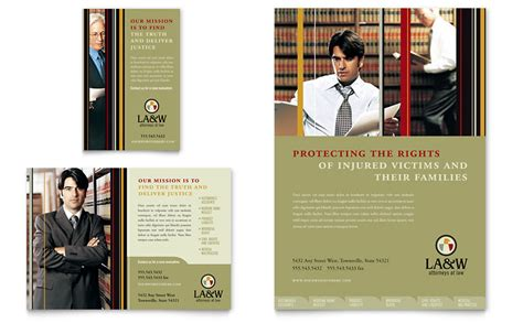 publisher templates for advertising lawyer law firm flyer ad template word publisher