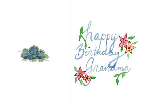 printable birthday cards grandmother free printable birthday cards six lovely free printable