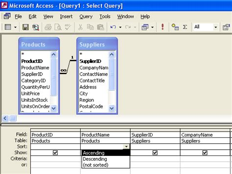 cara membuat query access 2010 membuat query dengan design view di microsoft access 2010