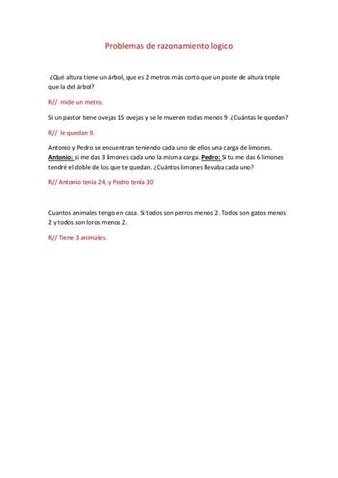 problemas para 2 de primaria slideshare newhairstylesformen2014com problemas de razonamiento logico