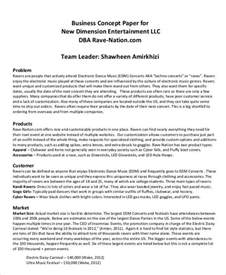 Business Concept Paper Template 11 business paper templates free sle exle format