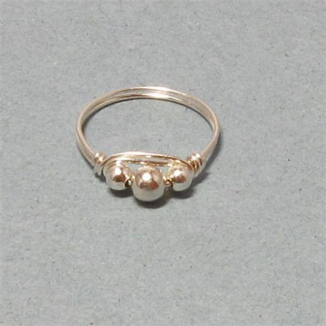 gold or silver wire wrapped rings gemtwists jewelry on