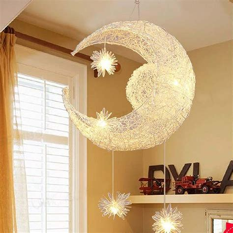 ascelina moonstar pendant lights kids room lighting modern child bedroom lamps aluminum