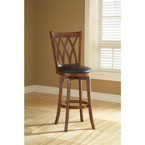 Hillsdale Mansfield Swivel Bar Stool by Hillsdale Furniture Mansfield 30 In Brown Cherry Swivel