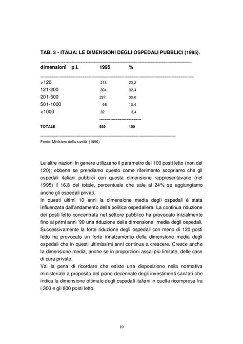 posti letto ospedali la dimensione degli ospedali nell ocse 1998
