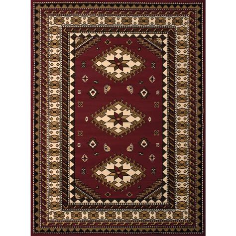 Home Hardware Area Rugs by United Weavers Tres Burgundy 7 Ft 10 In X 10 Ft 6 In