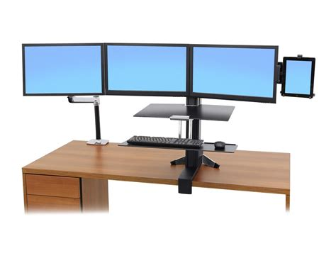 Desk Screen Accessories Ergotron Lx Sit Stand Desk Mount Lcd Arm Radius Office