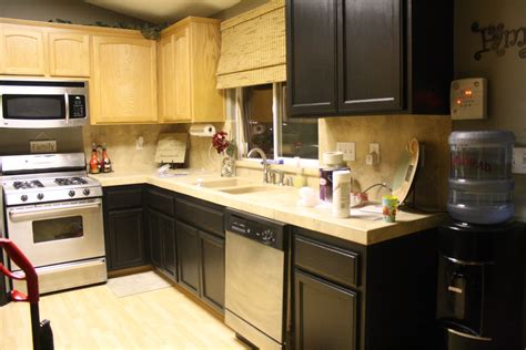 paint oak cabinets black images