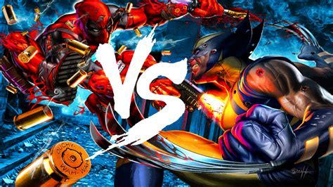 imágenes de deadpool vs wolverine deadpool vs wolverine versus marko vs angelcry youtube