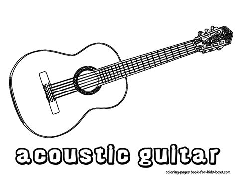 acoustic guitar coloring page amazing acoustic guitar printables wood guitars free