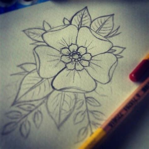 tattoo flower drawn flower tattoo flower draw tattoo drawings design