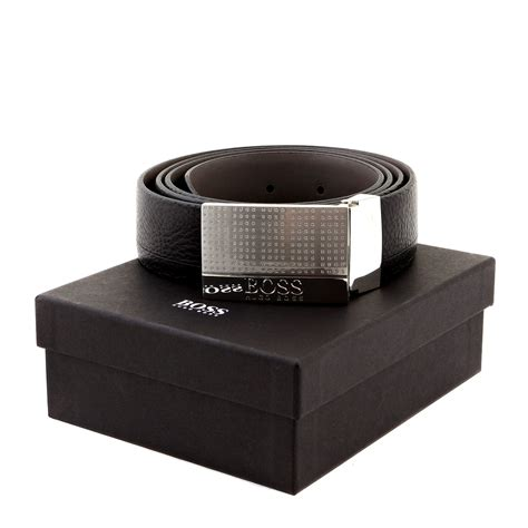 The Belts by Black Otano 50206890 Reversable Black Leather Hugo