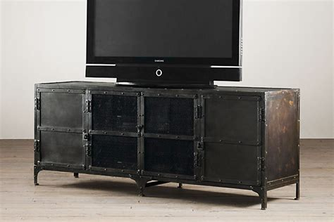 industrial media console 5 cool industrial media consoles for your living room