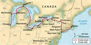 canada waterways map great lakes cruise company great american waterways