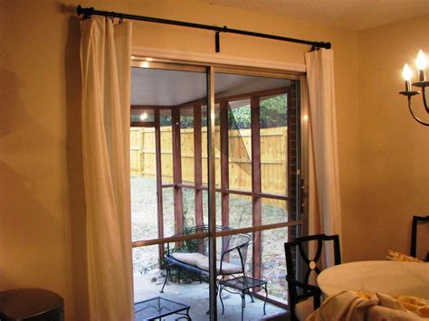sliding door curtain ideas with thermal curtain panels for