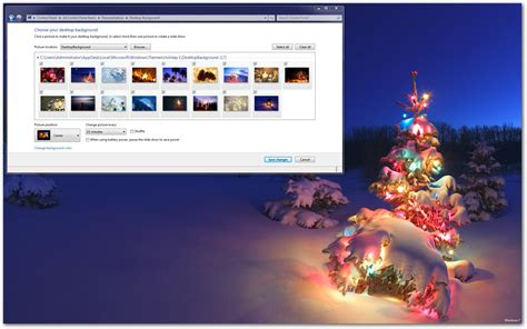 holiday lights windows 7 theme download
