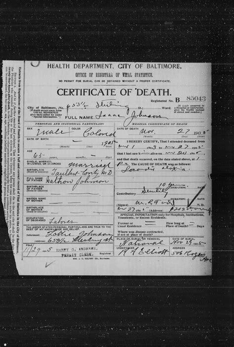 Baltimore County Divorce Records Isaac Johnson Msa Sc 3520 4897