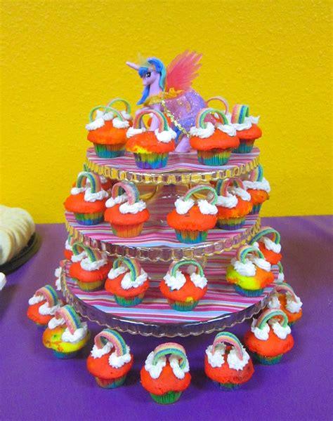 Cupcake Stand Pony Cupcake Tier My Pony Cilukba cupcake stand with my pony themed rainbow cupcakes my pony