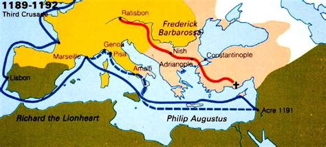 the third crusade map the third crusade