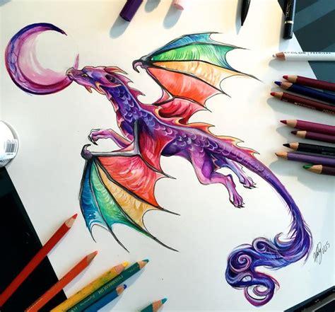 colorful dragon tattoo drawing