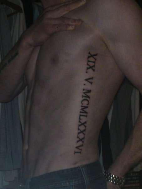 roman numeral 5 tattoo numerals tattoos lawas