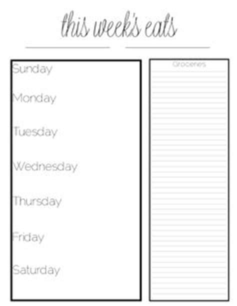 printable meal planner black and white 1000 images about meal planning on pinterest meal