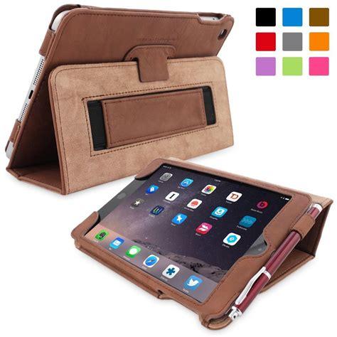 Leather Original Mini 4 Smart Casing Kulit Stand Cover Sgp apple mini 4 leather smart cover with stand