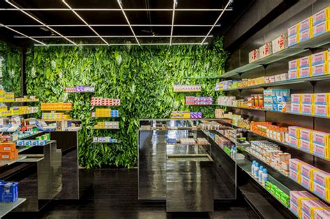 Living Walls Of Medicinal Plants In Paris Pharmacy Garden Wall Store