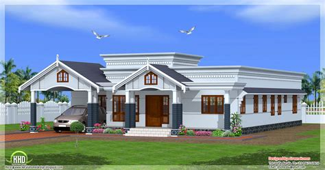 4 Room House 4 Bedroom Single Floor Kerala House Plan Indian Home Decor