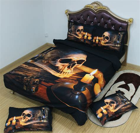 coolest sheets 5pcs king size 3d comforter bedding sets cool skull print