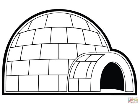 igloo coloring page free snowhouse or igloo coloring page free printable coloring