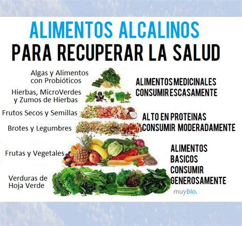 alimento alcalino lista de alimentos alcalinos para llevar una dieta