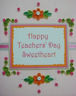 Teachers Day Greeting Cards Handmade - azlina abdul happy teachers day sweetheart