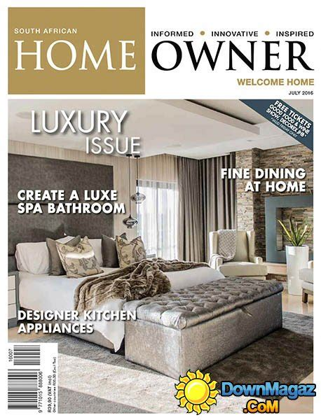 home decor magazines south africa south african home owner july 2016 187 download pdf