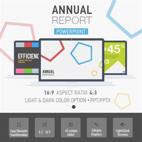 48 Best Annual Business Report Templates Psd Word Powerpoint Id Annual Report Powerpoint Template