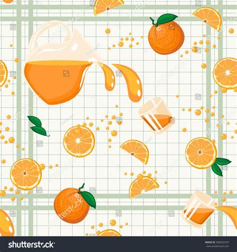 juice pattern vector orange juice seamless pattern repeatable food stock vector