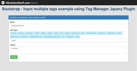 tutorial bootstrap tags input jquery ui tag it solution stuff