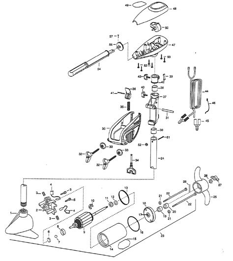 minn kota trolling motor parts diagram minn kota endura 30 parts 1999 from fish307