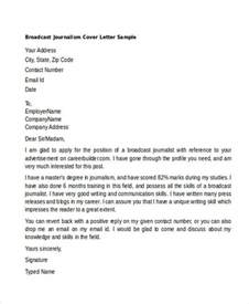 cover letter sle journalist sle cover letter broadcast journalism