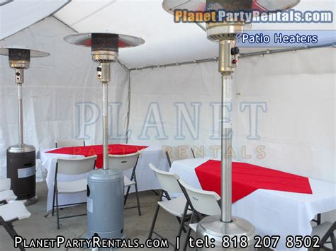Patio Heaters Rentals Patio Heater Rentals Includes Propane Tank Free Delivery With Rental Table Chairs Linens For