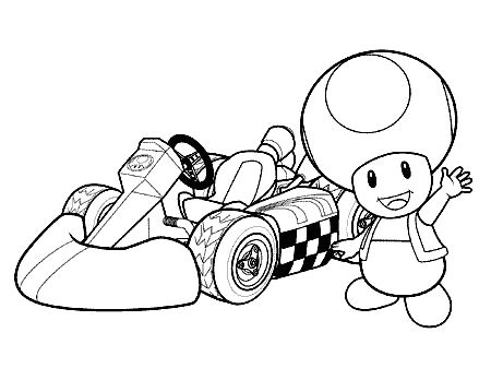 mario kart 7 coloring sheets to print coloring pages