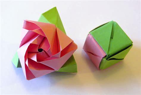 Origami Flower Cube - origami to cube comot